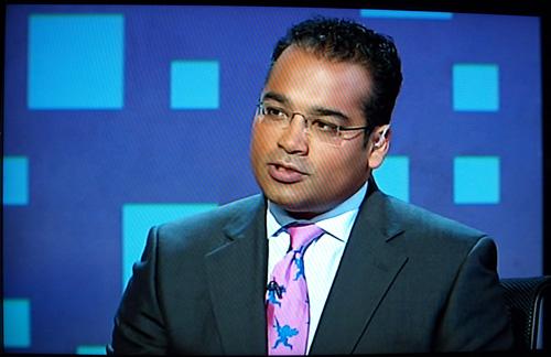 Krishnan Fashion Guru-Murthys Cool Pink Cherub Tie �� Martin.